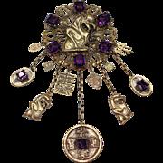 Joseff Gargoyle Oriental Pin
