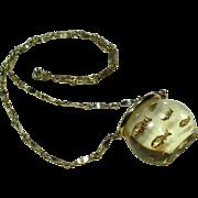 Vintage Lucite Fishbowl Necklace