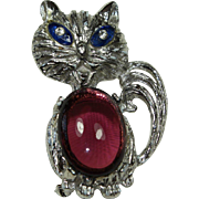 Vintage Jelly-Belly Cat Pin