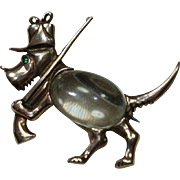 Vintage Pat.Pens Sterling Jelly-Belly Dog Pin