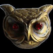 Large Red Eye Owl Pin