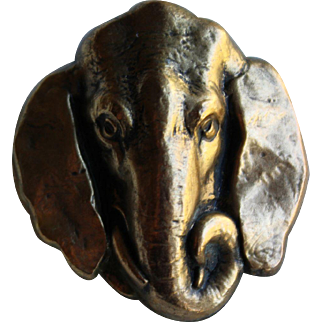 Elephant Face Joseff Pin