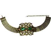 Vintage Peacock Eyes Alexis Kirk Choker Necklace