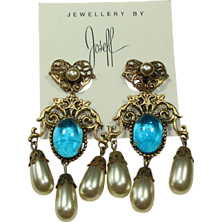 Joseff Rita Hayworth Earrings