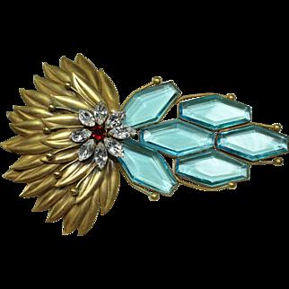 Joseff Blue Peacock Pin