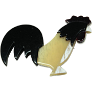 Vintage 'Lea Stein' Rooster Pin