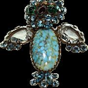 Vintage 'Schreiner' Owl Pin