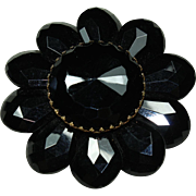 Vintage Black Stoned Pin