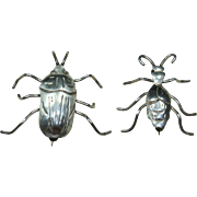 Vintage Bug Pin Duo