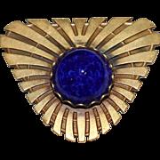 Blue Cabochon Vintage Joseff Pin