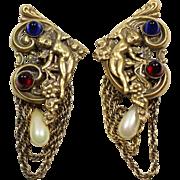Joseff Angel Clip Earrings