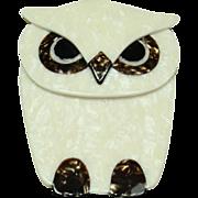 Vintage Plastic Owl Pin