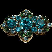 Vintage 'Regency' Blue Crystal Pin