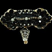 Vintage Black Crystal Pin
