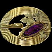 Vintage Purple Crystal Pin