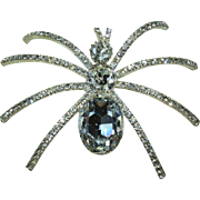 Vintage Crystal Spider Pin