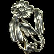 Vintage Sterling Sunflower Pin