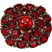 Vintage Red Cabochon Pin