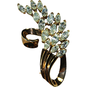 Vintage 'Pat Pend' Crystal Pin