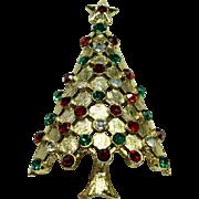 Vintage 'MYLU' Crystal Christmas Tree Pin