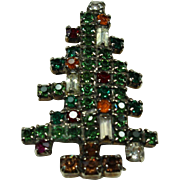 Vintage 'Weiss' Crystal Christmas Tree Pin