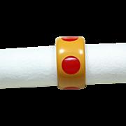 Vintage Bakelite Red Polka-Dot Bracelet