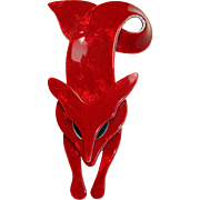 Vintage 'Lea Stein Paris' Fox Pin