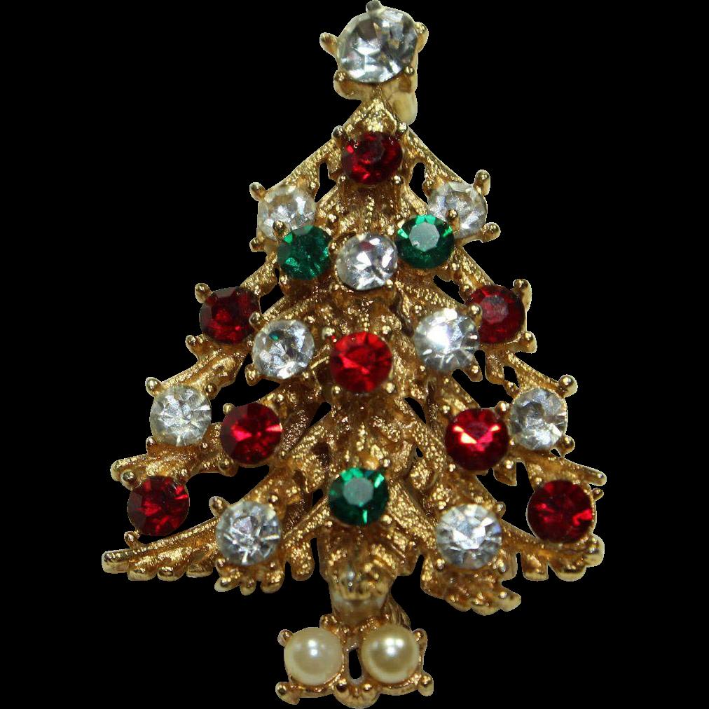 Vintage 39 Usner 39 Christmas Tree Pin Little Vintage Loft
