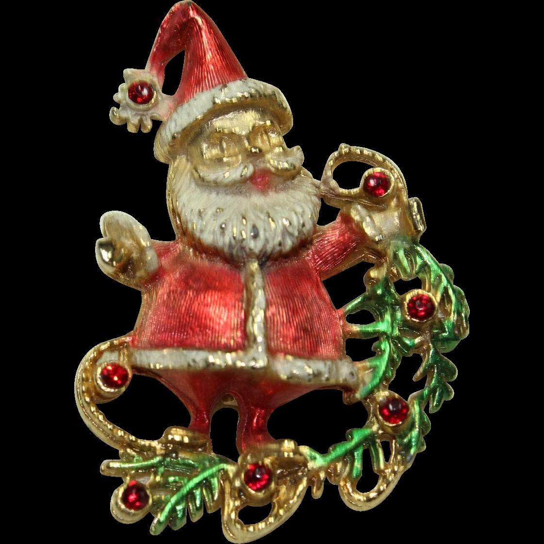 Vintage santa claus pin from little loft on ruby lane