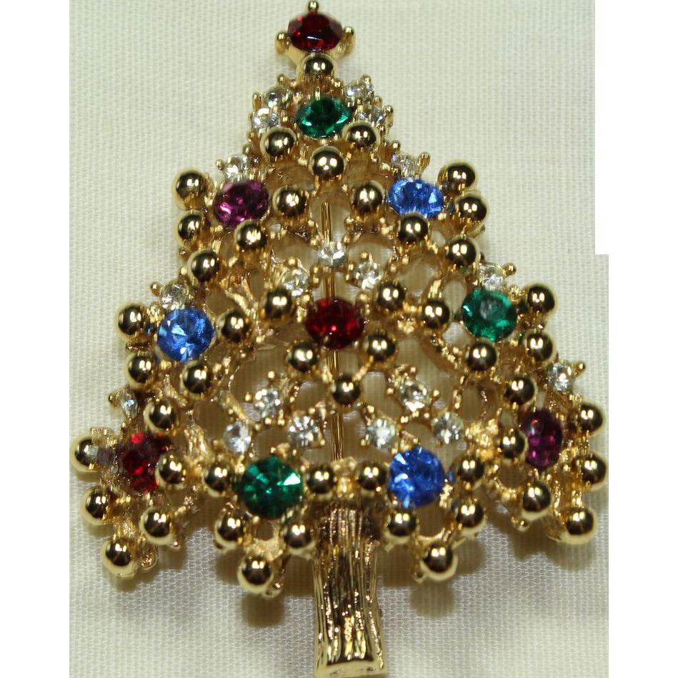 Vintage Eisenberg Christmas Tree Pin Little Vintage Loft