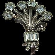 Vintage EISENBERG Sterling Crystal Clip Pin