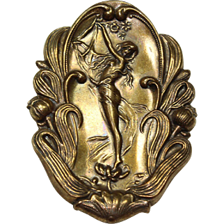 Vintage Victorian Lady Pin