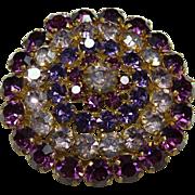 Vintage Austrian Crystal Pin
