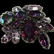 Vintage REGENCY Purple Crystal Pin