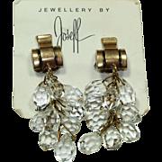 Joseff Crystal Drop Earrings