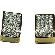 Vintage Magnetic Crystal Earrings
