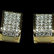 Vintage Magnetic Crystal Earrings