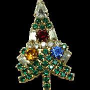 Vintage Little Eisenberg Christmas Tree Pin