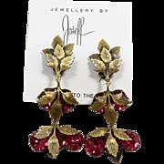 Joseff Pink Crystal Earrings