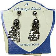 Vintage Whiting & Davis Dangle Earrings