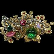 Vintage Unique Crystal Pin
