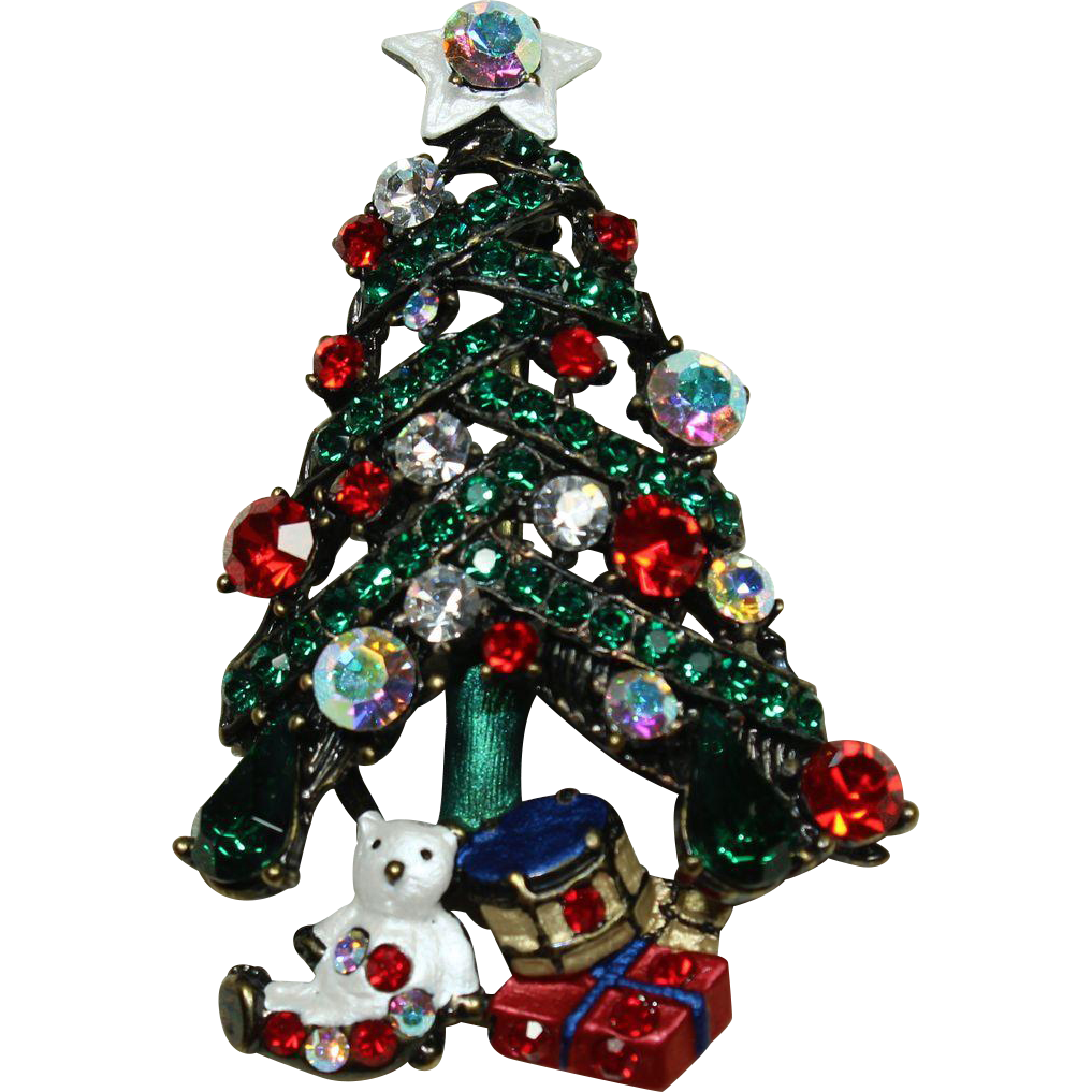 Vintage Christmas Tree Pin Little Vintage Loft Ruby Lane