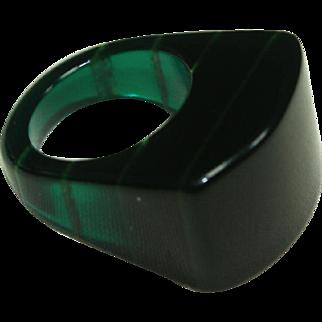 Vintage Green Plastic RIng