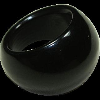 Vintage Black Plastic Ring