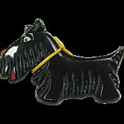 Vintage Black Plastic Scottie Pin