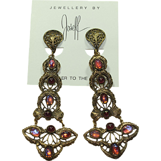 Joseff Cabochon Earrings