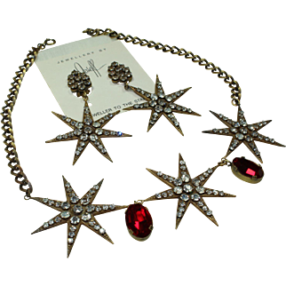 Joseff Star Necklace and Earring Set