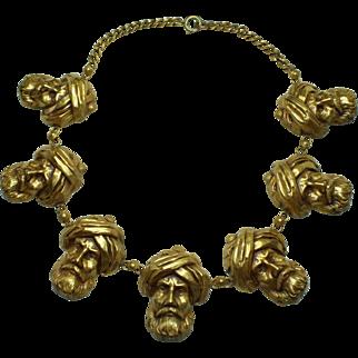 Joseff of Hollywood Turban Man Necklace