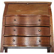 Strombecker Walnut Dollhouse Desk/Dresser