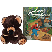 Little Brown Bear Vintage Book and Vintage Stuffed Bear!